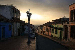 La Candelaria auf Monserrat in Bogotá