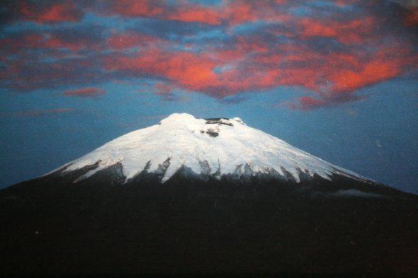 Postkarte vom Vulkan Cotopaxi