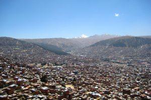 Aussicht auf La Paz, Bolivien