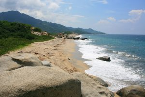 Strand im Tayrona-Nationalpark in Kolumbien