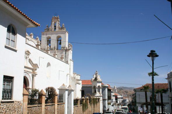 Weiße Stadt Sucre in Bolivien