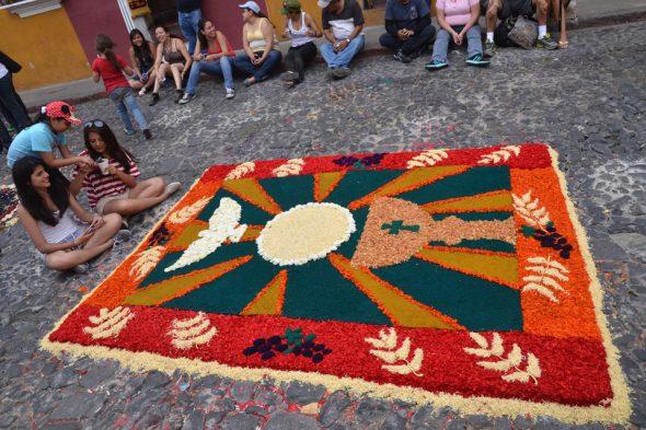 Typischer Alfombra in Antigua