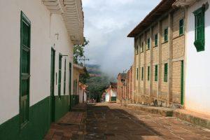 Straße in Barichara, Kolumbien