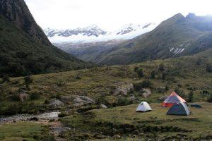 Zelten in den Anden