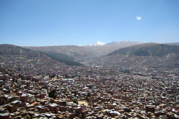 Aussicht auf die höchste Stadt Südamerikas