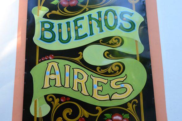 Schild in Buenos Aires