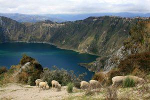 Aussicht auf die Laguna Quilatoa