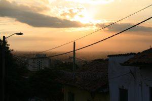 Sonnenuntergang in Bogotá