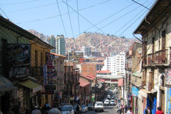 Steile Straßen von La Paz