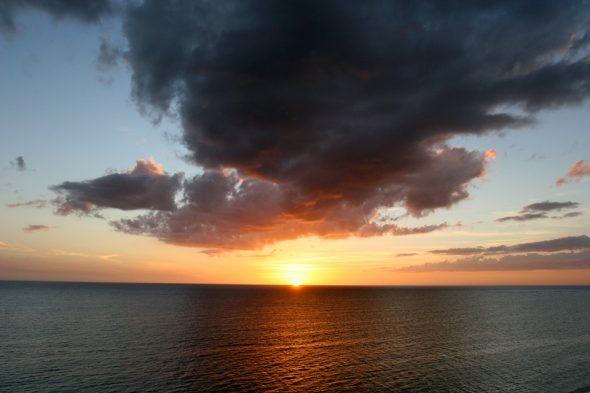 Sonnenuntergang in Kuba