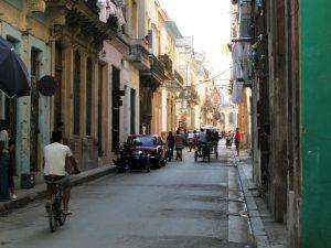 Koloniale Straße in Havanna