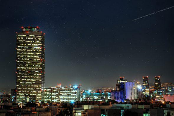 Mexiko-Stadt bei Nacht