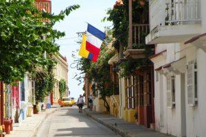 Koloniale Straße in Cartagena