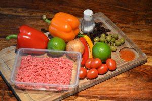 Zutaten für Empanadas-Füllung