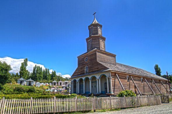 Holzkirche auf Chiloé, Chile