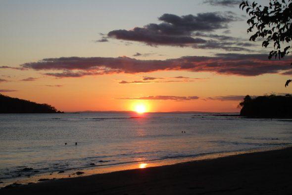 Sonnenuntergang in Santa Catalina, Panama