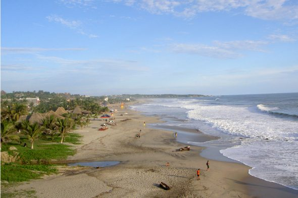 Playa Zicatela in Puerto Escondido, Mexiko