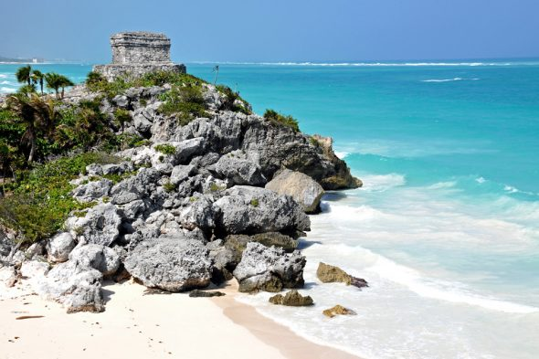 Strand bei Tulum in Mexiko