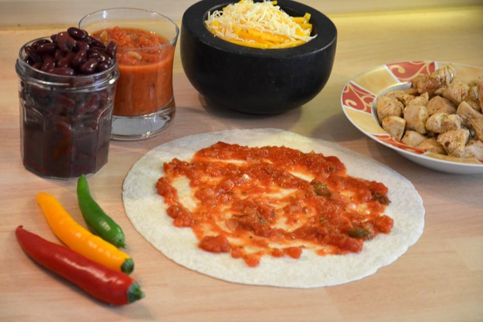 Füllung vorbereiten für Enchiladas