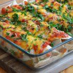 Überbackene, gefüllte Enchiladas