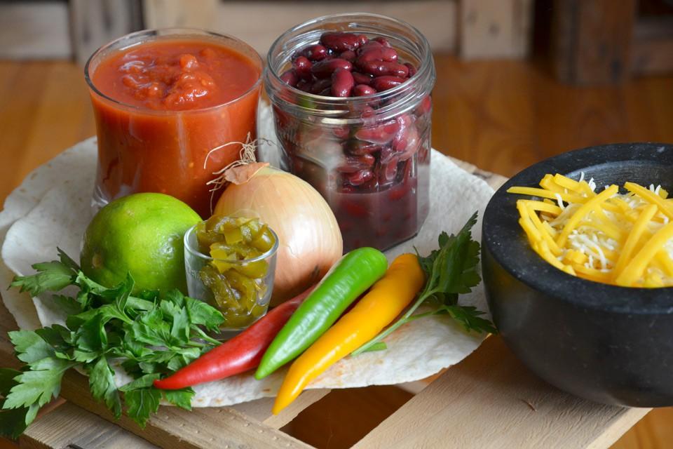 Typische Enchilada-Zutaten