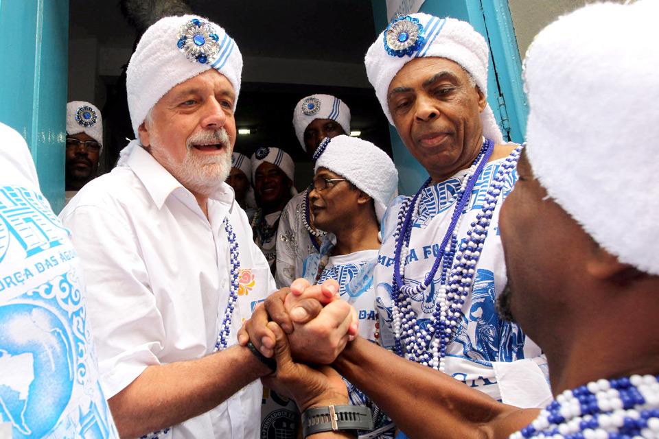 Gilberto Gil als Kulturminister Brasiliens