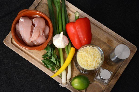 Zutaten für Chicken-Quesadillas
