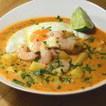Peruanische Garnelen-Suppe