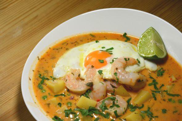 Garnelen-Suppe aus Peru