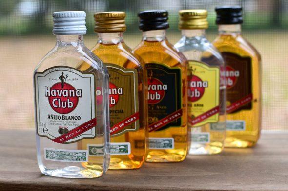 Die Rum-Sorten der kubanischen Marke Havana Club