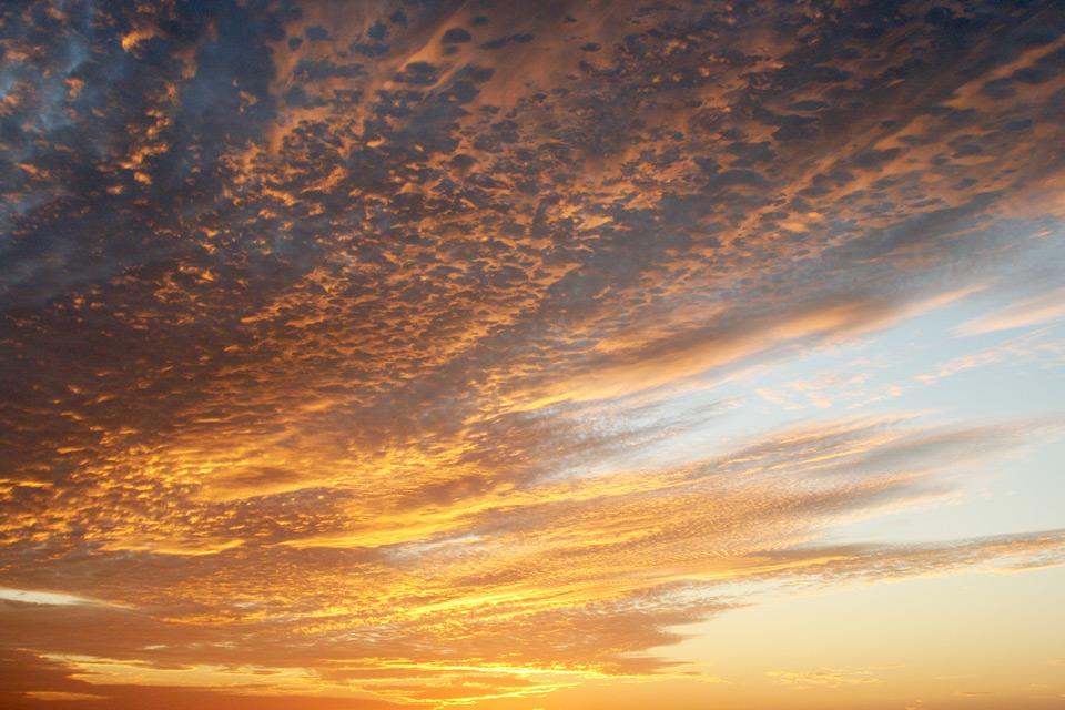 Sonnenuntergang am Playa Langosta in Costa Rica