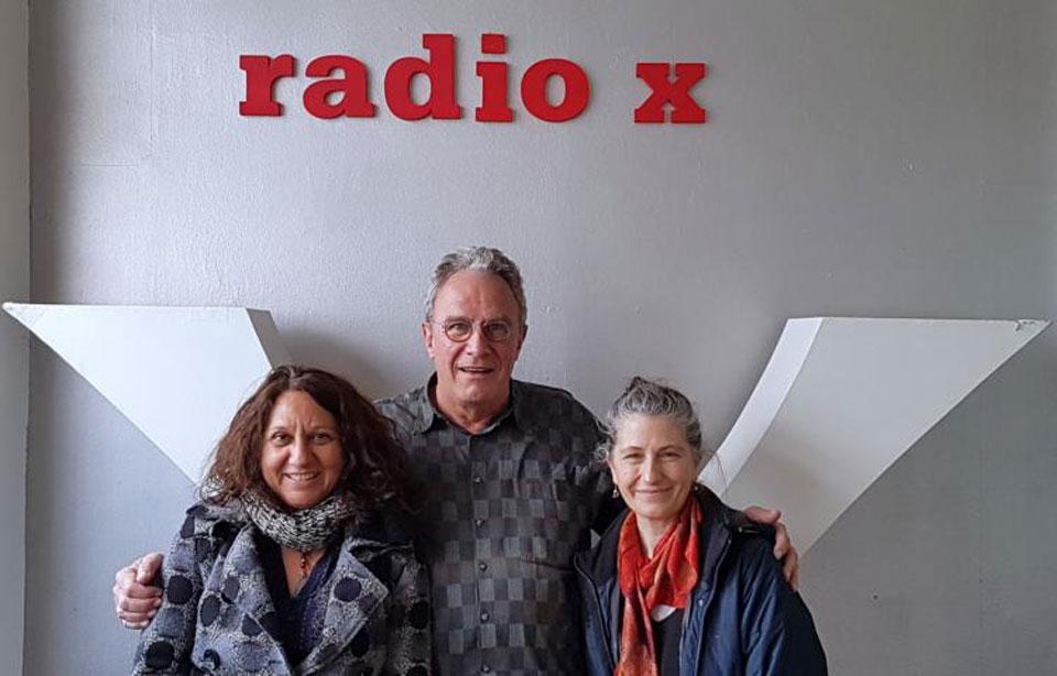 Hans-Jürgen Lenhart mit Brasilianerin Zélia Fonseca und die Chilenin Magdalena Matthey